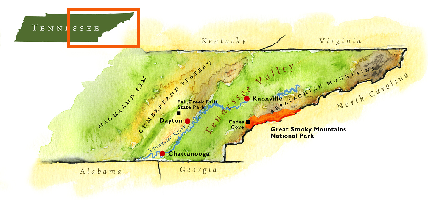 Maps By Scotteastern Tennessee Maps By Scott