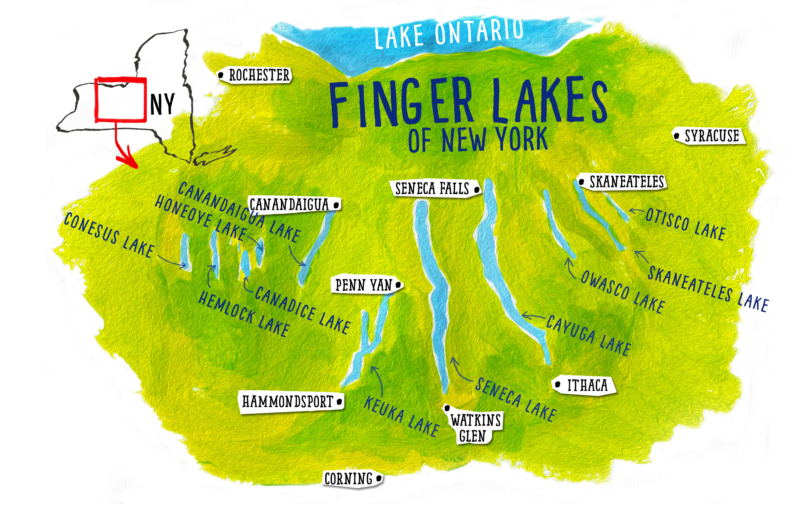 Map Of New York Finger Lakes Region.Maps By Scottfinger Lakes Maps By Scott