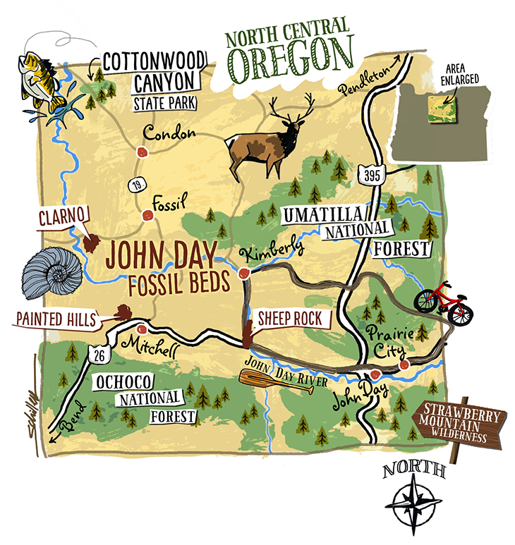Central Oregon Map Maps! by ScottNorth Central Oregon   Maps! by Scott